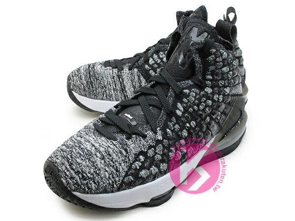 2019-2020 NBA 最新款 LeBRON JAMES 最新代言 NIKE LEBRON XVII GS 17 OREO 大童鞋 女鞋 黑白 雪花 FLYKNIT 飛織鞋面 前 ZOOM AIR 後 MAX 氣墊 小皇帝 雷霸龍 KING LAKERS 頂級科技 籃球鞋 (BQ5594-002) 1019 1