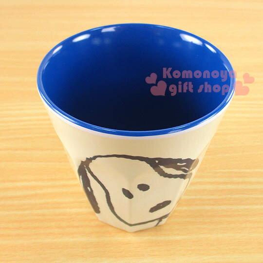 〔小禮堂〕史努比 無把手塑膠杯《小.白.大臉.270ml》可當水杯或漱口杯