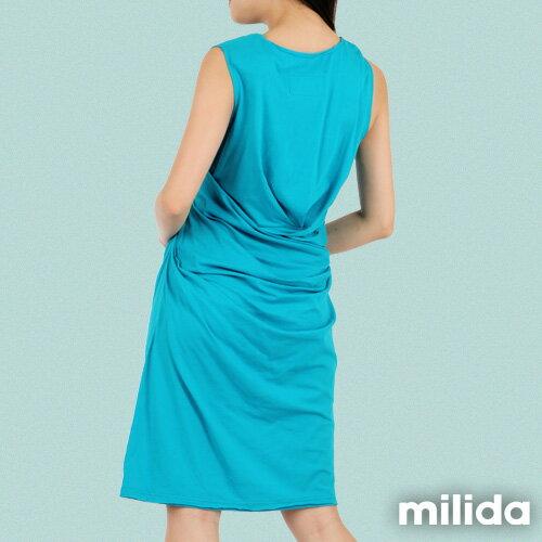 【Milida,全店七折免運】-夏季洋裝-無袖款-氣質長版洋裝 1