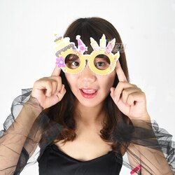 X射線【W278828】生日快樂造型眼鏡(8款隨機出貨),生日派對/飾品/眼鏡/派對/角色扮演/化妝舞會/表演/話劇