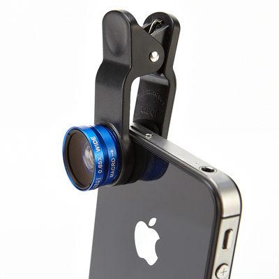 【創駿】無暗角0.65x 二合一手機夾式鏡頭組 廣角 微距鏡頭 手機平板皆可通用 手機【AB32AC】