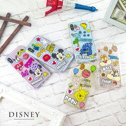 Disney迪士尼iPhone X/XS繽紛格子防摔氣墊空壓保護套