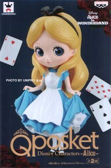 日版 Q Posket 愛麗絲夢遊仙境 迪士尼 單售 正常顏色款 A款 Alice Qposket 公仔