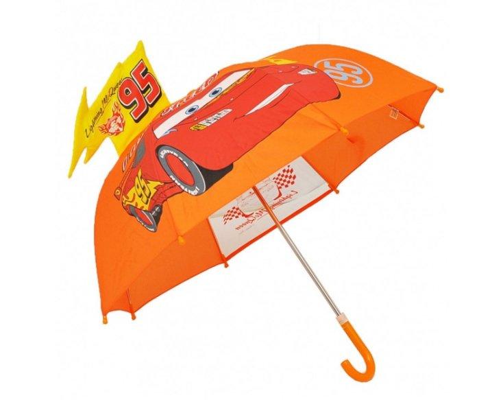 Disney 迪士尼 兒童傘/3D造型傘/手開直傘 Cars 麥坤 *夏日微風*
