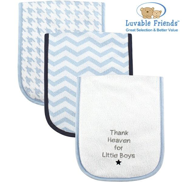美國 Hudson Baby/Luvable Friends 嬰幼用品 寶寶拍隔巾/口水巾 - 粉藍色
