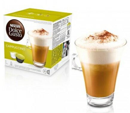 近效期促銷107/8/31雀巢 DOLCE GUSTO 卡布其諾咖啡膠囊 CAPPUCCINO 膠囊 公司貨(全家最多限12盒) 無開發票
