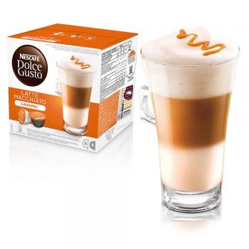 近效期促銷107/9/30雀巢 DOLCE GUSTO 焦糖瑪奇朵咖啡膠囊 LATTE MACCHIATO  單盒(全家最多限12盒) 無開發票