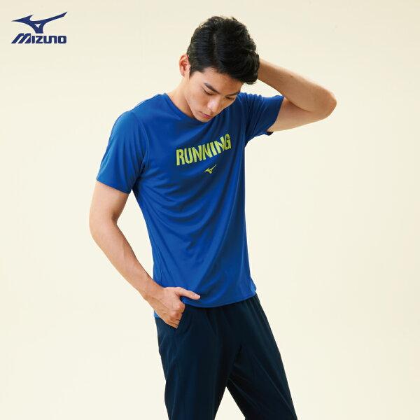 J2TA800622(深藍)熱遮蔽材質路跑短袖T恤【美津濃MIZUNO】