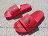 Shoestw【S80407】ADIDAS VOLOOMIX SLIDE 拖鞋 紅黑 大LOGO 男生尺寸 0