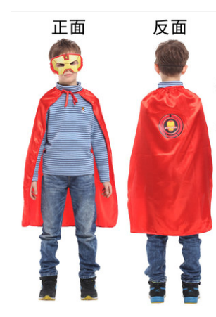 X射線【W275964】30鋼鐵小英雄眼罩披風組,萬聖節服裝/化妝舞會/派對道具/兒童變裝/表演/鋼鐵人/復仇者聯盟/cosplay/面具