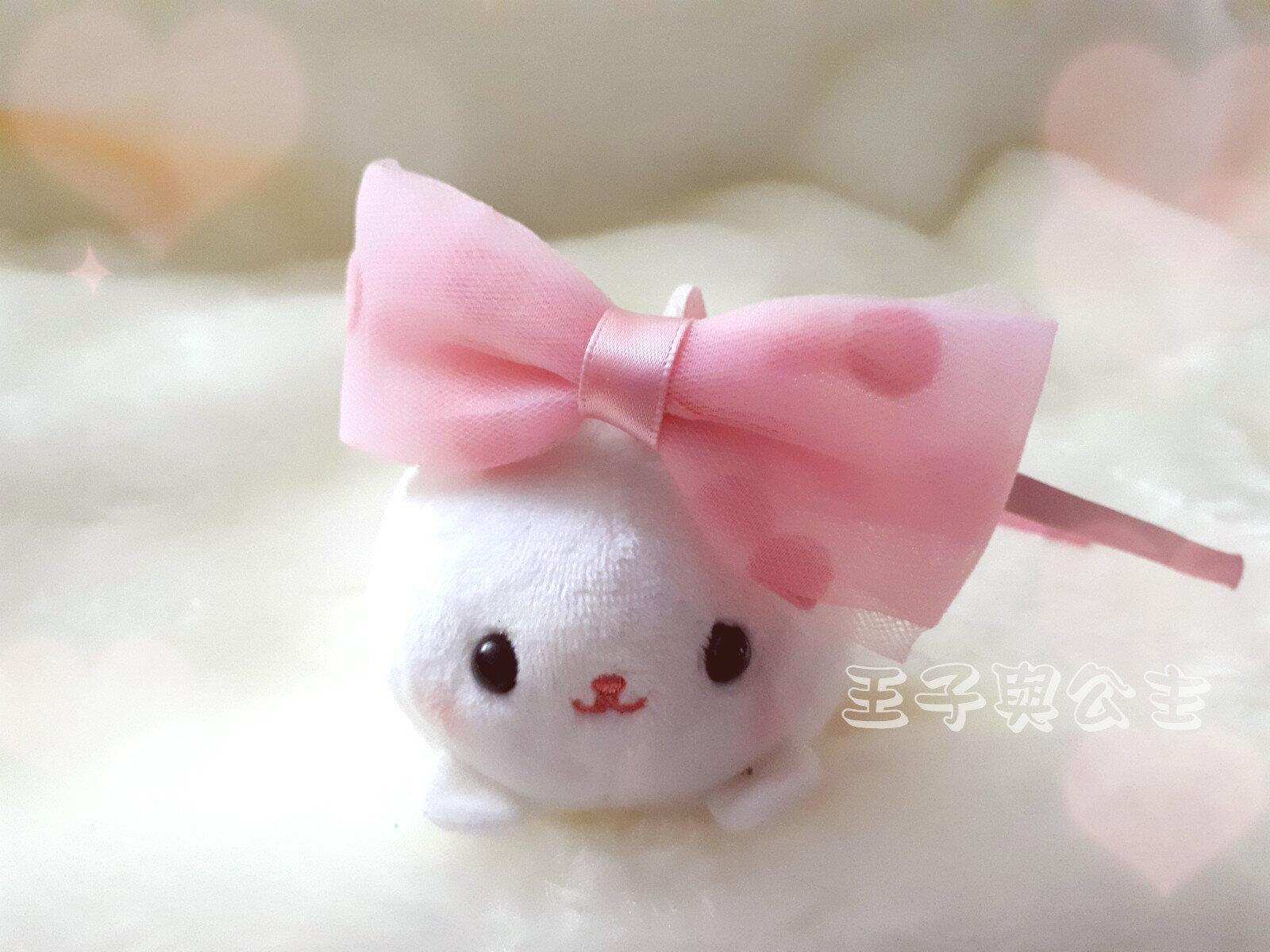 兒童髮箍 浪漫和風系清新復古綢緞帶蝴蝶結髮箍AA015 ~~~~~ 日韓  髮飾  髮帶
