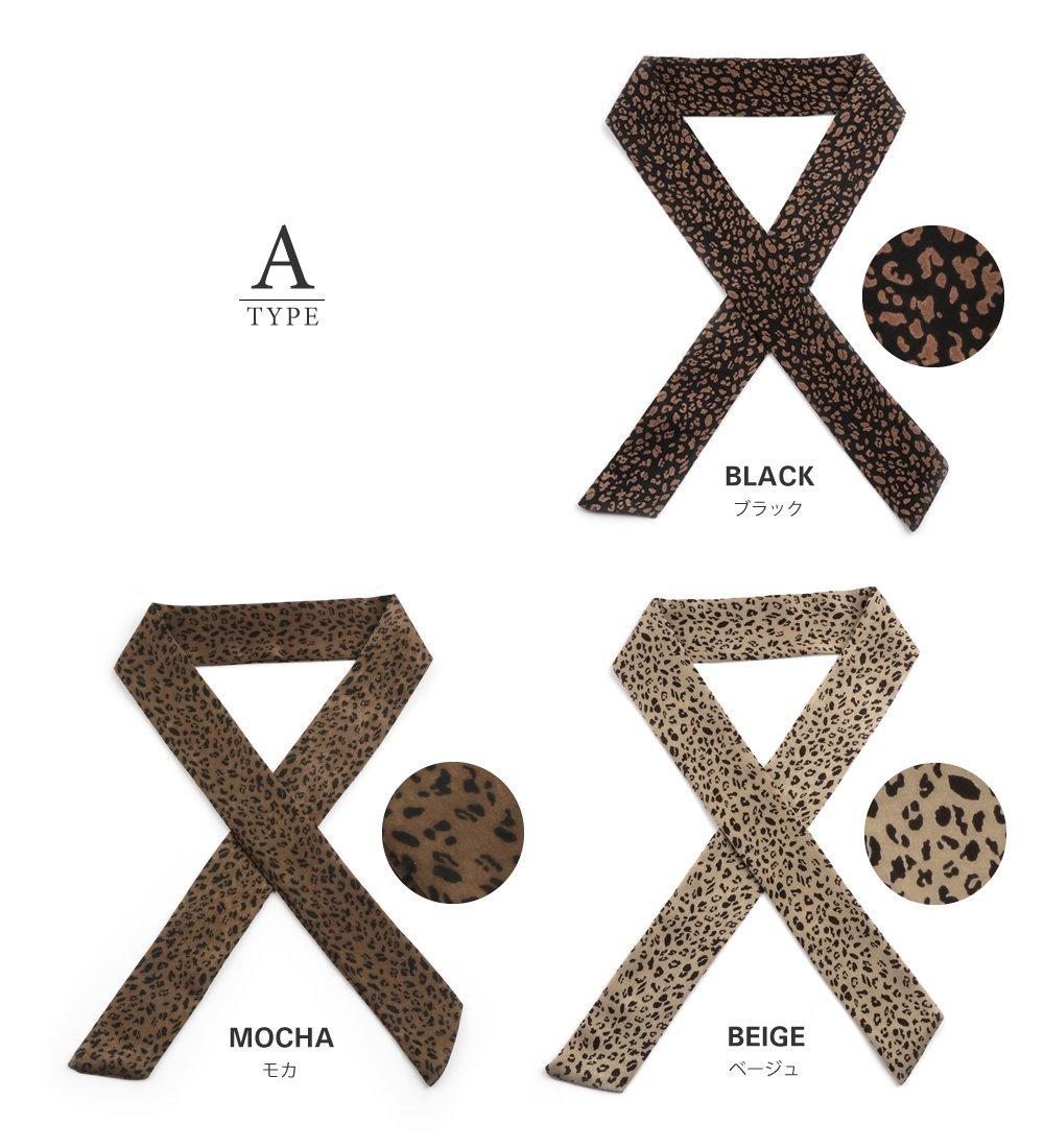 日本CREAM DOT  /  全7色 スカーフ ツイリースカーフ ファッション小物 ベルト ストール 大人 レオパード柄 ゼブラ柄 ペイズリー柄 ベージュ モカ レンガ  /  k00335  /  日本必買 日本樂天直送(1290) 2