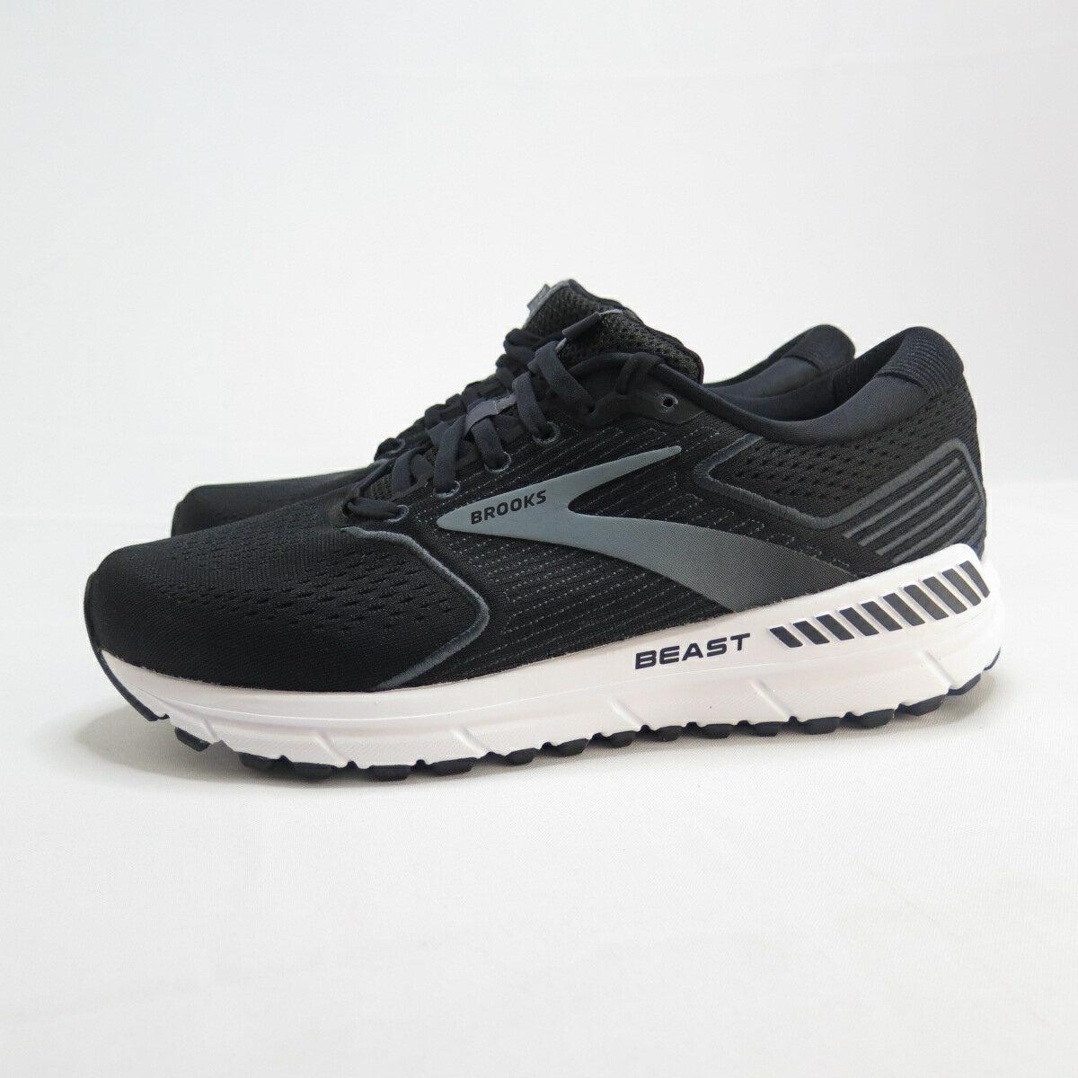 Brooks BEAST 20 男款 高支撐 慢跑鞋 4E楦 1103274E051 黑【iSport愛運動】
