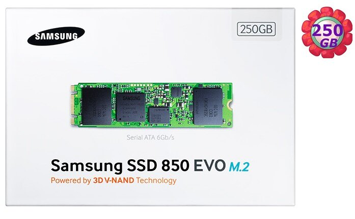 SAMSUNG SSD 850 EVO 250GB 250G【M.2】MZ-N5E250BW SATA III Internal Solid State Drive 內接式 筆電固態硬碟