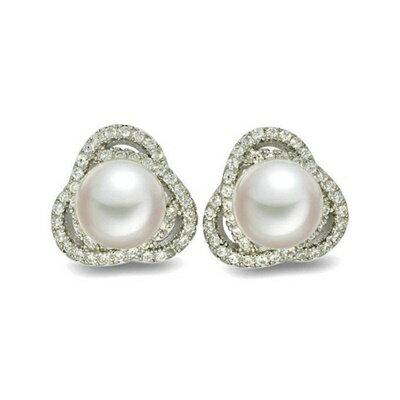 ~925純銀耳環鑲鑽耳飾~ 耀眼迷人母親節生日情人節 女飾品73dm186~ ~~米蘭 ~