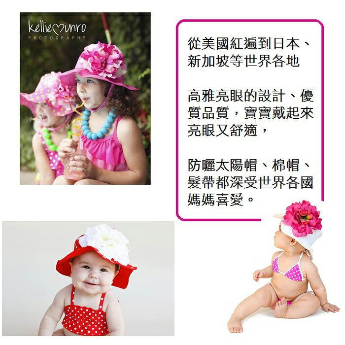 【HELLA 媽咪寶貝】美國Jamie Rae 100%純棉髮帶 糖果粉細髮帶+粉覆盆子雛菊 (JRFBD06)