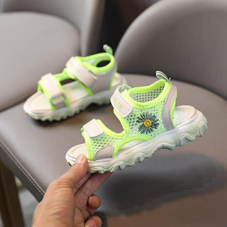 女童涼鞋 女童涼鞋夏季新款兒童時尚休閒潮鞋男童鞋軟底防滑學生沙灘鞋 愛尚優品