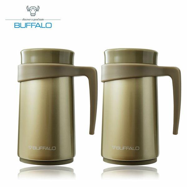 【BUFFALO 】保溫把手杯 420ml 香檳金色 AF2D407 (2入組)