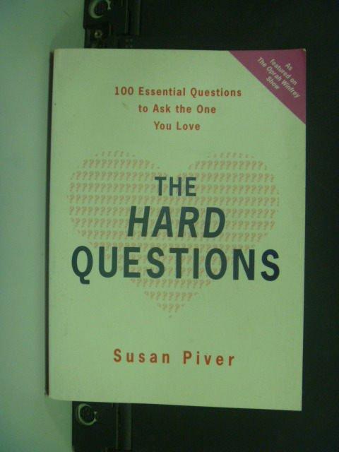 【書寶二手書T4/勵志_KIK】The Hard Questions_Susan Piver