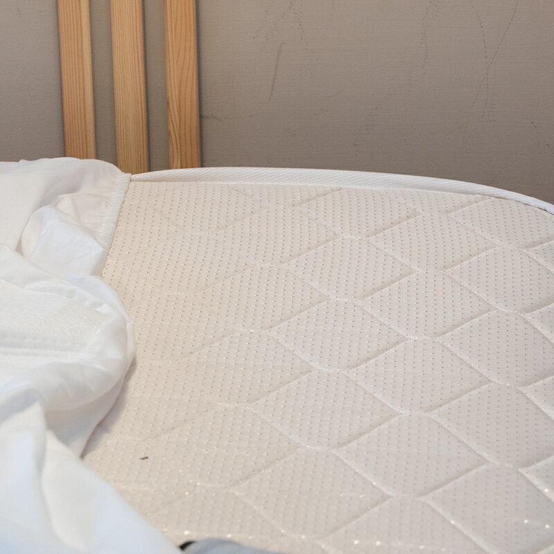 【限時免運】超強防水透氣床包式保潔墊✷熱銷好評▶寵物 / 小孩同床必備 抗汙防菌 台灣製造 Annahome 5