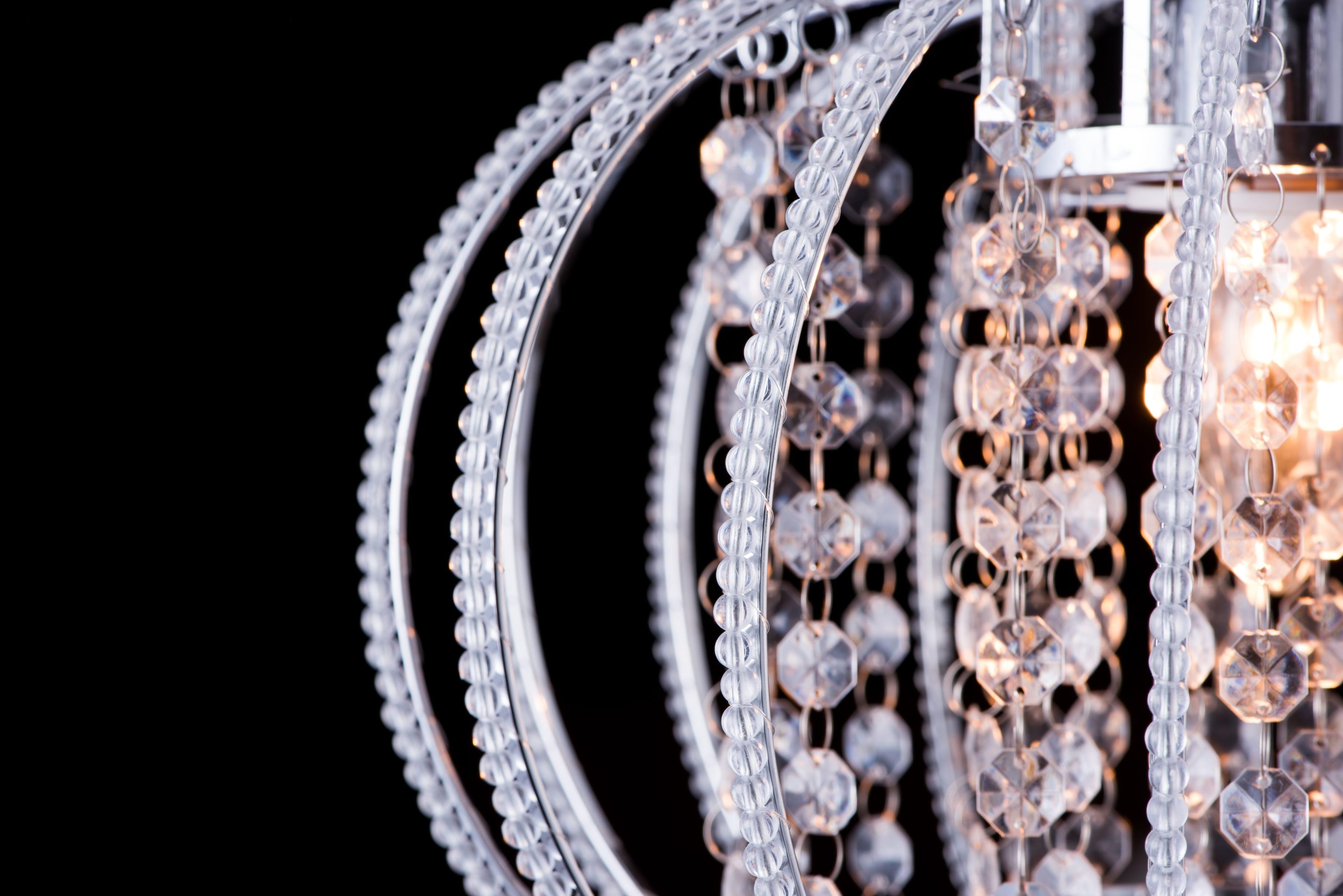鍍鉻圓形透明壓克力珠吊燈-BNL00046 2