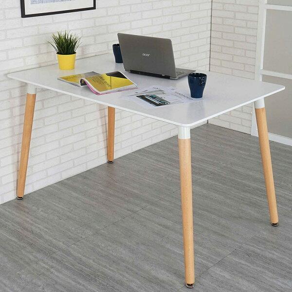 餐桌洽談桌造型桌【Yostyle】貝莉北歐風大餐桌(亮麗白)