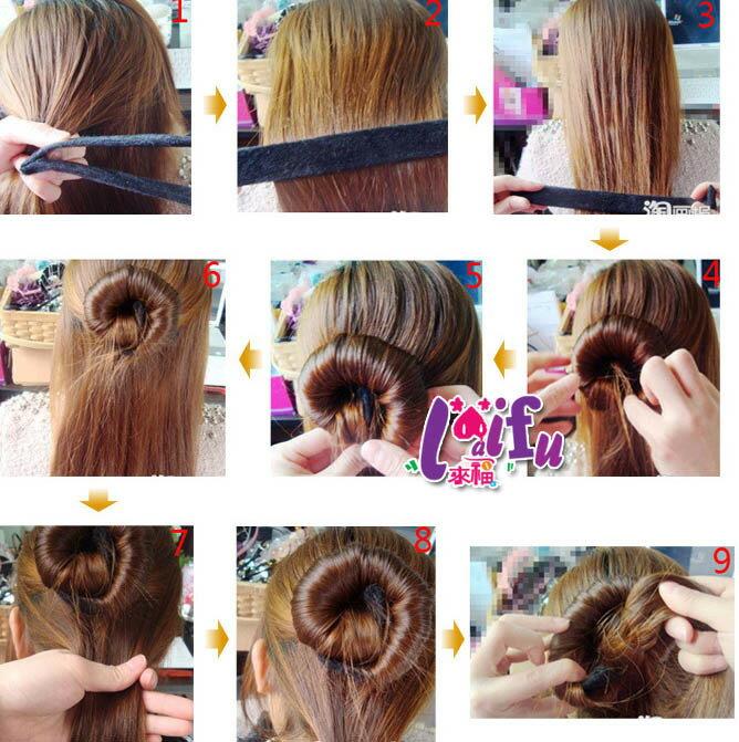 ★草魚妹★H716盤髮器雙片捲起升級版造型丸子頭花苞頭整髮器,售價99元