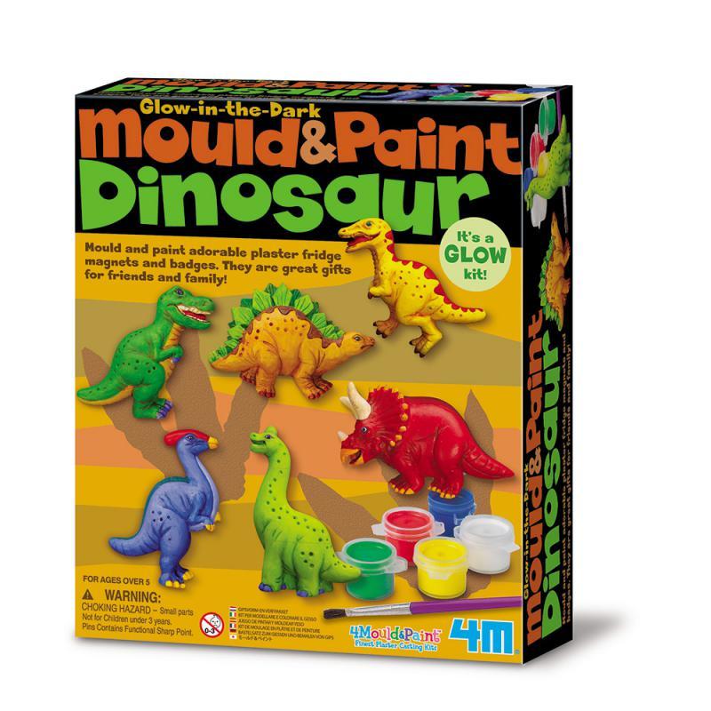 【4M】美勞創作系列-侏儸紀公園(製作磁鐵) Mould & Paint / Dinosaur 00-03514