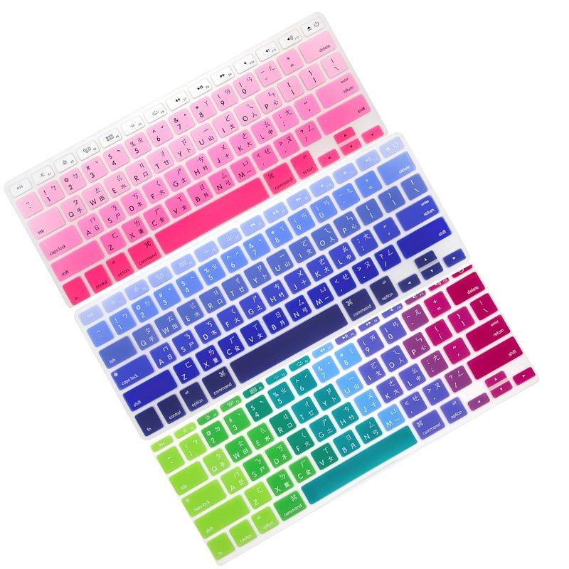 漸變系列 MacBook Air 13 Pro 13 Macbook 12 防塵鍵盤膜(藍/粉/彩) APPLE 防刮