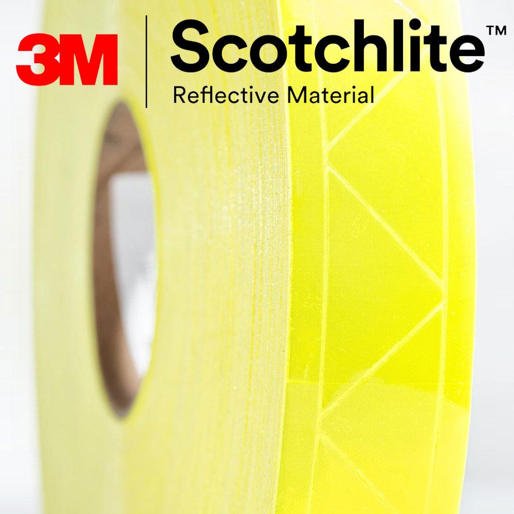 【safetylite安心生活館】《滿額899免運》3M Scotchlite 6187R 反光晶格帶 反光條 反光材料 5CM寬【黃色反光條、可水洗反光布】適用於衣料