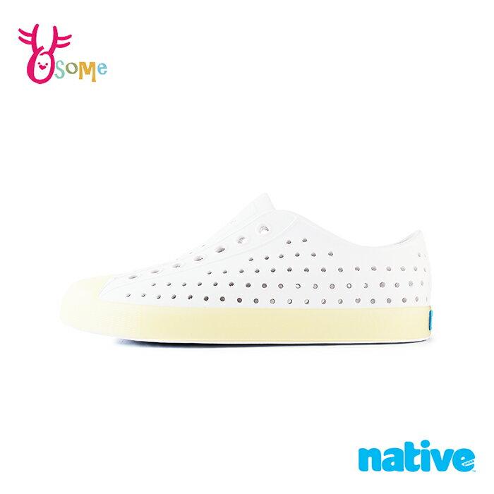 native水鞋 男女鞋 奶油頭 洞洞鞋 休閒鞋 情侶鞋 懶人鞋 JEFFERSON M9410#白色◆OSOME奧森鞋業