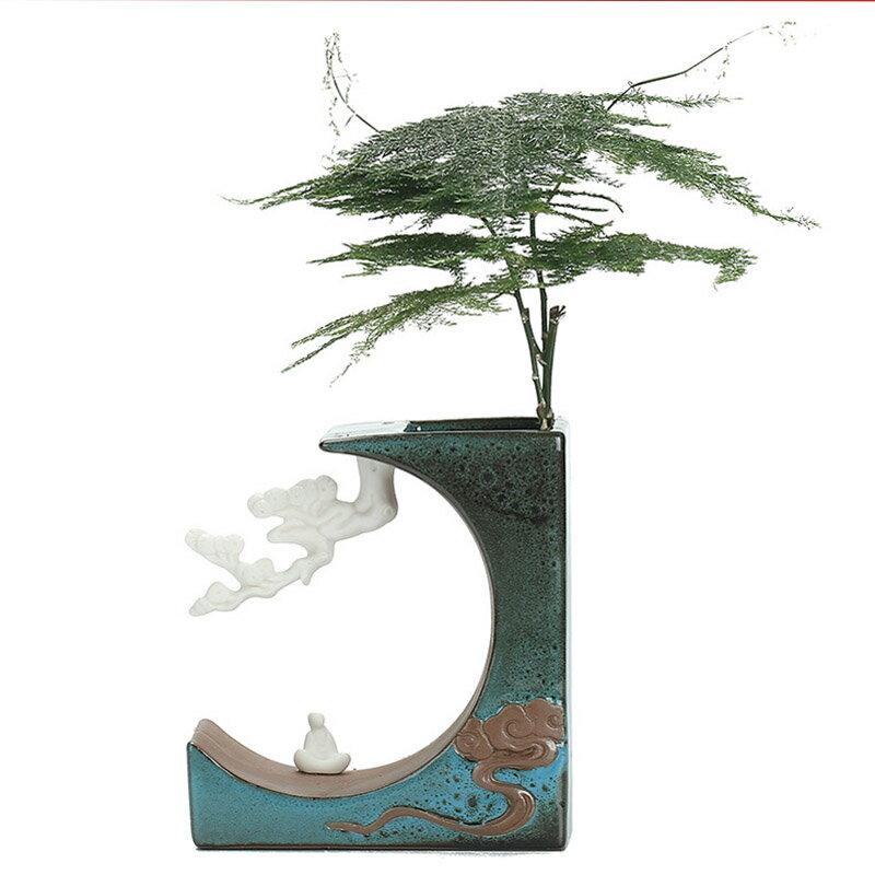 創意陶瓷花插時尚個性小花器裝飾品綠蘿水培花瓶家居辦公桌面擺件