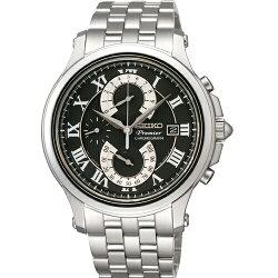SEIKO Premier紳士品味人動電能腕錶/黑面/SPC067P1(7T85-0AC0D)