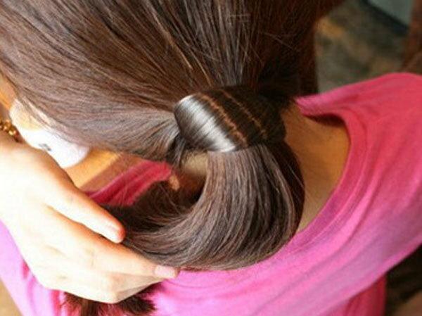 【櫻桃飾品】韓版假髮造型髮束髮圈超商取貨貨到付款【20287】