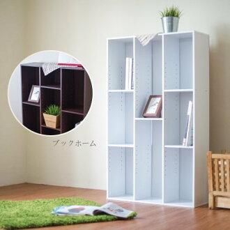 生活大發現-H-時尚白簡易三排書櫃/收納櫃/收納櫃 書架/收納/台灣製造