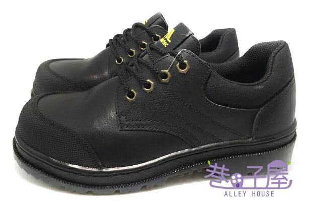 【巷子屋】SOLETEC鐵客 男款真皮超鐵氣墊防穿刺鋼頭安全鞋 H級 [1009] 黑 MIT台灣製造 超值價$890