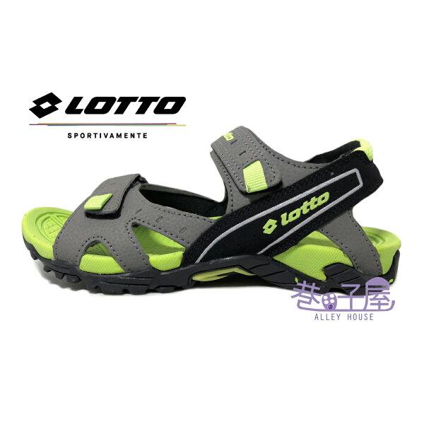 【巷子屋】義大利第一品牌-LOTTO樂得男款三大機能戶外運動涼鞋[3128]灰綠超值價$398