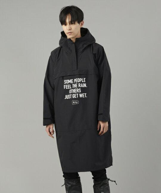 日本kiu  /  帥氣防潑水 防風長版罩衫 外套 附收納袋   / K110 。共4色。(8640)日本必買 日本樂天代購 1