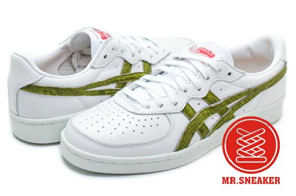 ☆Mr.Sneaker☆OnitsukaTigerGSM復古休閒鞋軟木塞白綠色男女段