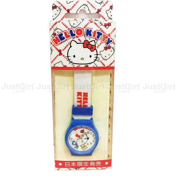 HELLO KITTY 手錶 兒童錶 指針式 蘋果熊熊拐杖糖 塑膠錶帶 配件 日本進口限定販售 * JustGirl *