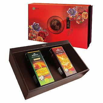 台灣綠源寶嚴選禮讚年節養生禮盒A-1(蜂蜜兩入禮盒組)/野生蜂蜜+嚴選龍眼蜜700g