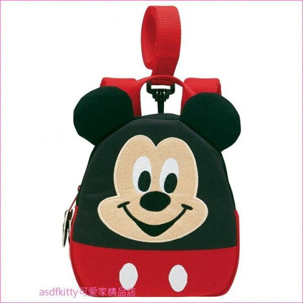 asdfkitty可愛家☆米奇立體造型兒童防走失後背包-日本正版商品