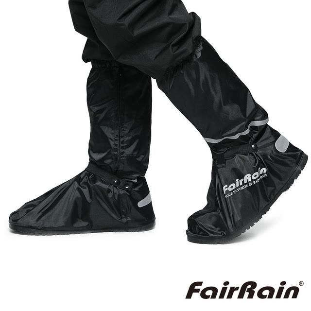 【飛銳】黑旋風 高質感3M反光厚底防水雨鞋套 (一雙入)