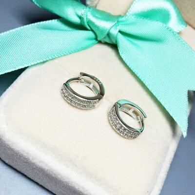 925純銀耳環鑲鑽耳飾~ 簡潔優雅生日情人節 女飾品73ia72~ ~~米蘭 ~