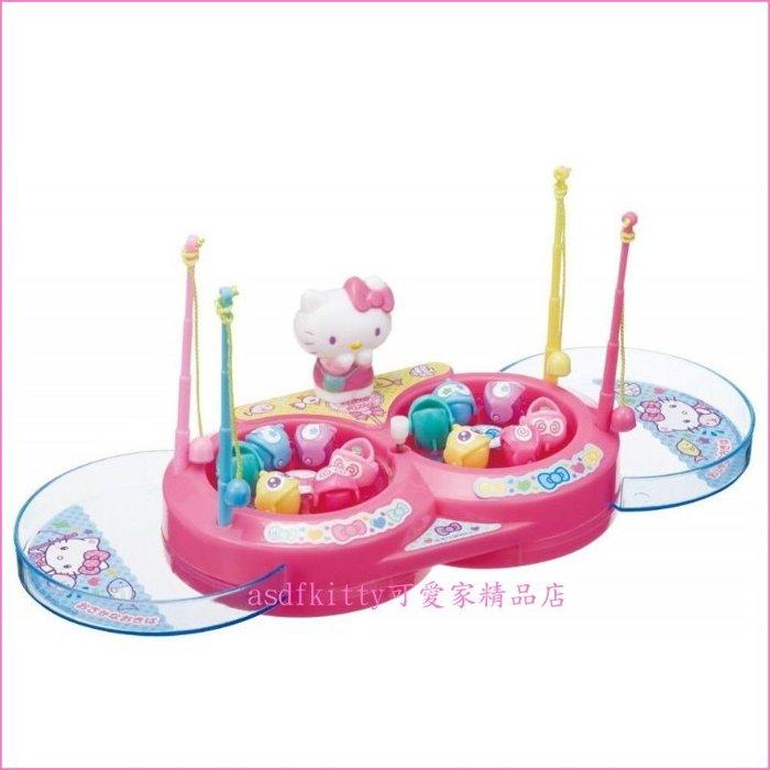 KITTY 8字型釣魚玩具組-藍邊盤-兒童玩具-日本正版商品