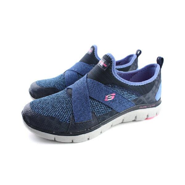 SKECHERS Flex Appeal 2.0 運動鞋 懶人鞋 女鞋 藍色 no510