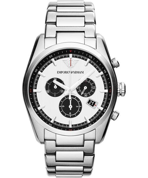 EMPORIO ARMANI/AR6007型男典範計時腕錶/白面42.5mm