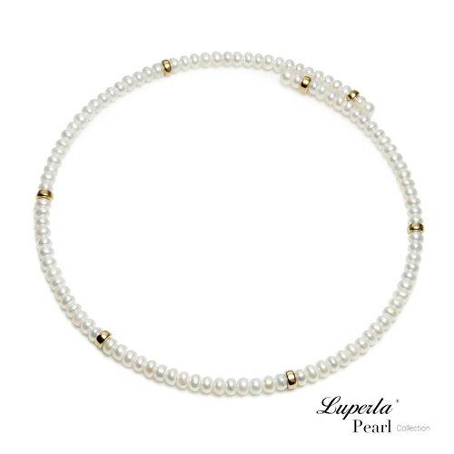 大東山珠寶 浪漫貴族 頸圈項鍊 歐美古典編織珠寶 14K天然珍珠項鍊 2