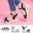 【AS531】一字 / 交叉帶涼鞋 時尚牛仔布材質 8CM楔型增高 舒適防水台 2色 0