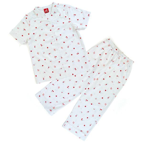 【真愛日本】18042500040開襟式睡衣褲組-KT白ACK三麗鷗凱蒂貓kitty睡衣居家服
